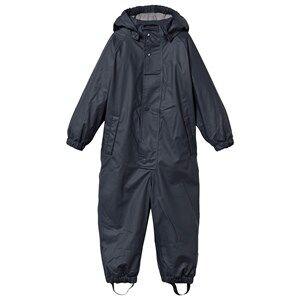 Mini A Ture Unisex Childrens Clothes Coveralls Blue Reinis Lined Rain Suit Ombre Blue