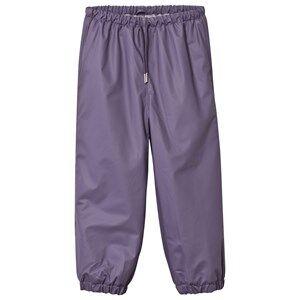 Mini A Ture Unisex Childrens Clothes Bottoms Purple Robin Lined Rain Pants Purple Heart