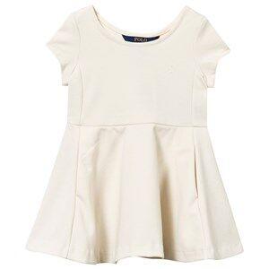 Ralph Lauren Girls Childrens Clothes Dresses White Ponte Dress Herbal Milk
