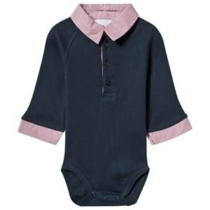 Kiss How To Kiss A Frog Boys Childrens Clothes All in ones Blue Baby Body Navy