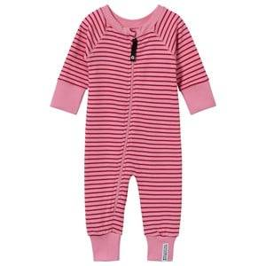 Image of Geggamoja Girls Childrens Clothes All in ones Pink Pyjamas Classic Pink/Red