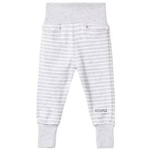 Geggamoja Unisex Childrens Clothes Bottoms Grey Baby Pants Classic Light Grey Mel/White