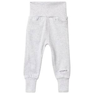 Geggamoja Unisex Childrens Clothes Bottoms Grey Baby Pants Classic Light Grey Mel