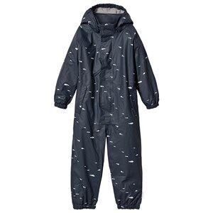 Mini A Ture Unisex Coveralls Blue The Reinis Lined Rain Suit M Ombre Blue Print