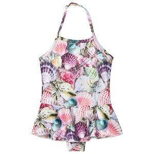 Molo Girls Swimwear and coverups Multi Noelle Swimsuit Seashell