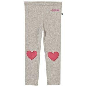 The BRAND Girls Private Label Bottoms Grey Heart Leggings Grey