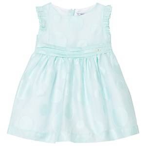 Image of Mayoral Girls Dresses Green Mint Circle Detail Voile Dress