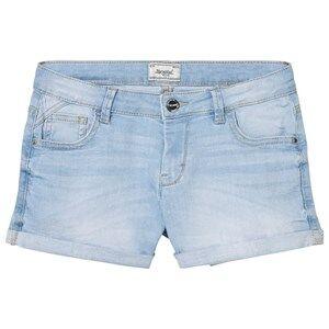 Image of Mayoral Girls Shorts Blue Light Wash Denim Shorts