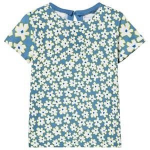 Stella McCartney Kids Girls Tops Blue Blue Daisy Print Tee