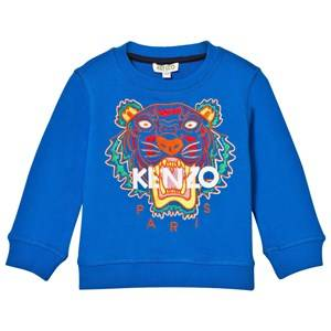 Kenzo Unisex Jumpers and knitwear Blue Blue Tiger Embroidered Sweatshirt