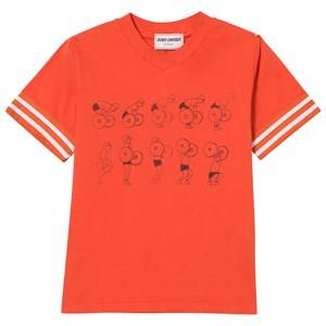 Bobo Choses Boys Tops Red Weightlifting V-Neck T-Shirt Red Clay