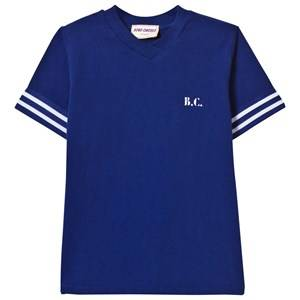 Bobo Choses Boys Tops Blue B.C. Team V-Neck T-Shirt Mazarine Blue