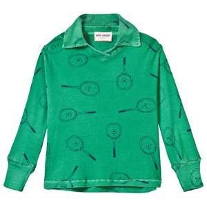 Bobo Choses Girls Tops Green Tennis Football Polo Mint