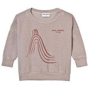 Bobo Choses Girls Jumpers and knitwear Grey Slide Sweatshirt Chateau Gray