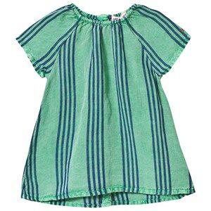 Bobo Choses Girls Dresses Green Striped Baby Dress Mint