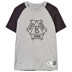 NIKE Boys Tops Grey Grey Baseball Dry Tee