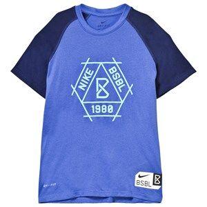 NIKE Boys Tops Blue Blue Baseball Dry Tee