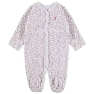 Image of Ralph Lauren Girls Childrens Clothes All in ones White Floral Footed Baby Body White