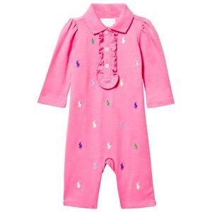 Ralph Lauren Girls Childrens Clothes All in ones Pink Schiffli Baby One-Piece Bermuda Pink