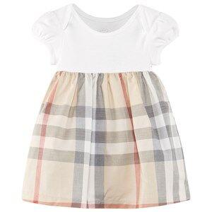 Burberry Unisex Childrens Clothes Dresses Beige Check Detail Cotton Dress