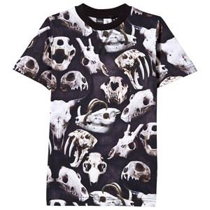 Image of Molo Unisex Childrens Clothes Tops Black Ralphie T-Shirt Animal Skulls