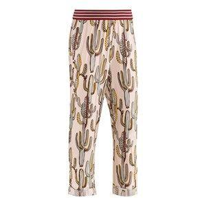 Image of Molo Unisex Childrens Clothes Bottoms Multi Aldora Soft Pants Pastel Cactus