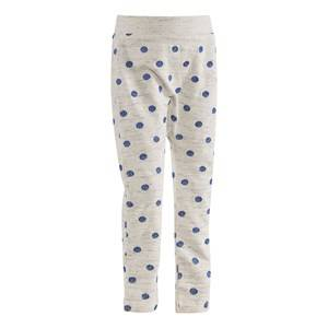 Molo Unisex Childrens Clothes Bottoms Grey Soso Soft Pants Blue Dot