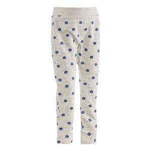 Molo Unisex Childrens Clothes Bottoms Grey Soso Soft Pants Blue Dot