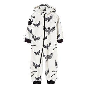 The BRAND Unisex Private Label Fleeces White Fleece Onesie Off White Eagles