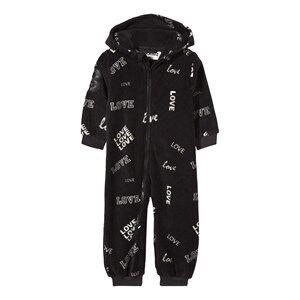 The BRAND Unisex Private Label Fleeces Black Fleece Onesie Black Love