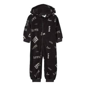 The BRAND Unisex Private Label Fleeces Black Fleece Onesie Black Love