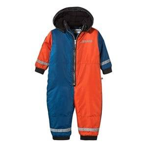 The BRAND Unisex Private Label Coveralls Multi Color Block Winter Overall Red/Black/Blue