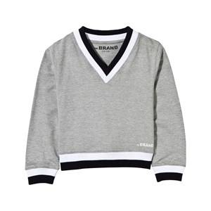 The BRAND Boys Private Label Jumpers and knitwear Grey V-Neck College Sweater Grey