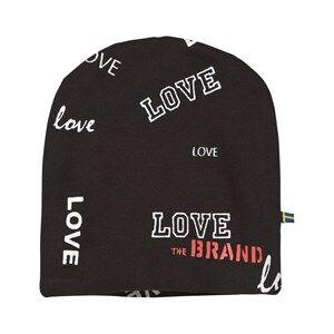 The BRAND Girls Private Label Headwear Black Hat Black Love