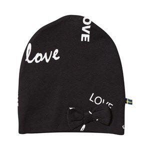 The BRAND Girls Private Label Headwear Black Bow Hat Black Love