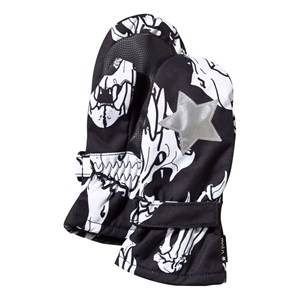 Image of Molo Unisex Childrens Clothes Gloves and mittens Multi Mitzy Mittens Skulls