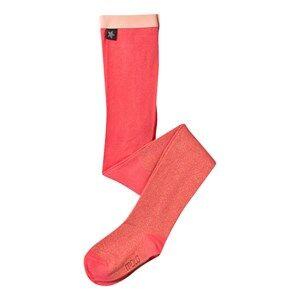 Molo Unisex Childrens Clothes Underwear Pink Glitter Tights Sunkist Coral