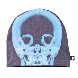 Molo Unisex Childrens Clothes Headwear Multi Kay Hat Xray Skull