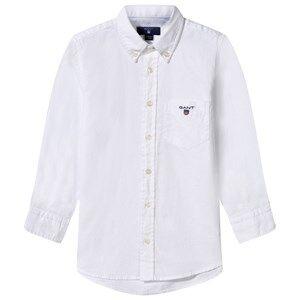Gant Boys Childrens Clothes Tops White Archive Oxford Shirt White