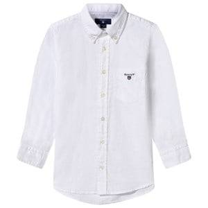 Gant Boys Childrens Clothes Tops White Archive Oxford Shirt White