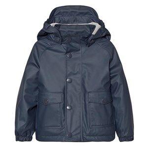Mini A Ture Unisex Childrens Clothes Coats and jackets Blue Julien Lined Rain Jacket Ombre Blue