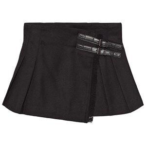 Burberry Girls Childrens Clothes Skirts Black Fringed Wool Kilt Black