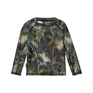 Image of Molo Unisex Swimwear and coverups Green Neptune UV Long Top Camo Palms