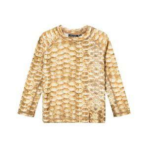 Image of Molo Unisex Swimwear and coverups Gold Neptune Swimming UV-Top Gold Fishshell