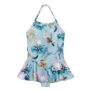 Image of Molo Girls Swimwear and coverups Blue Noelle Swimsuit Fishpond