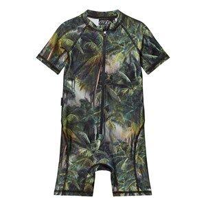 Image of Molo Unisex Swimwear and coverups Green Neka Swimsuit Camo Palms