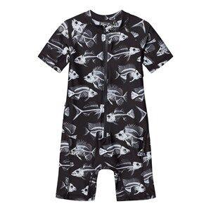 Molo Unisex Swimwear and coverups Black Neka Swimsuit Fish Skeleton