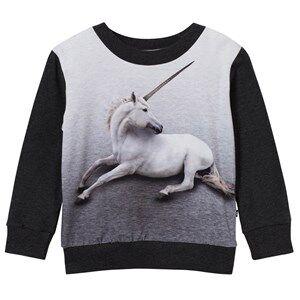 Image of Molo Unisex Jumpers and knitwear Black Magine Sweatshirt Unicorn