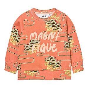 Molo Girls Jumpers and knitwear Pink Marina Sweatshirt Nouveau Clouds