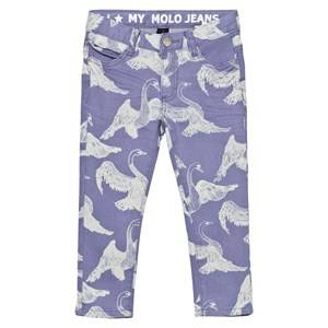 Molo Girls Bottoms Blue Alfa Pants Swans